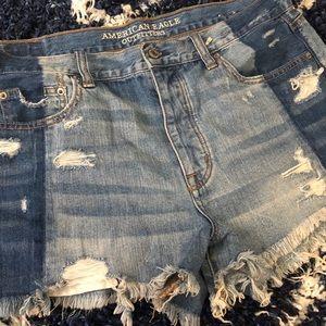 // American Eagle Festival Distressed Shorts